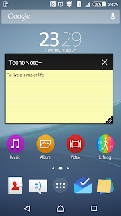 Techo Note+ (memo/sticky note)- screenshot thumbnail