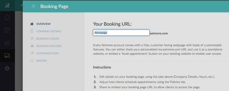Update_Booking_Page_URL