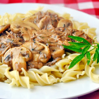 Easy Leftover Turkey Stroganoff.