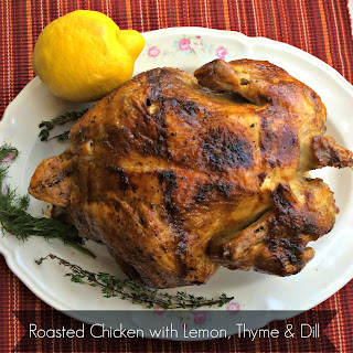 Roasted Chicken with Lemon, Thyme and Dill Recipe