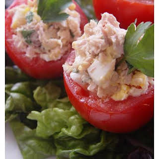 Tuna Stuffed Tomato Salad.