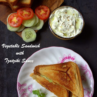 Vegetable Sandwich With Tzatziki Sauce
