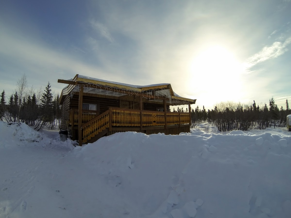 Our Cabin during our stay at the Arctic Chalet