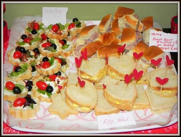 Here is another tray of the different tea sandwiches that were served.