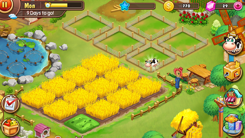 android Virtual Farm Business Village Screenshot 1