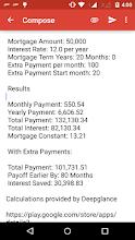 Mortgage Prepayment Calculator screenshot thumbnail