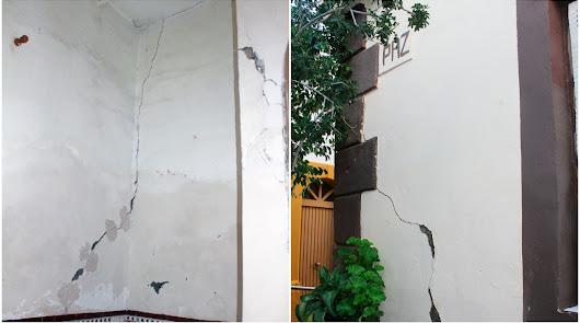 Más de un año viviendo en una casa dañada por un escape de agua externo