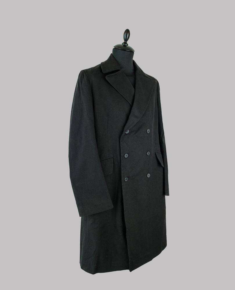 Isabel Benenato Mens double breasted overcoat