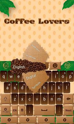 Coffee Lover GO Keyboard Theme - screenshot