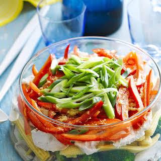 Layered Chicken Salad.
