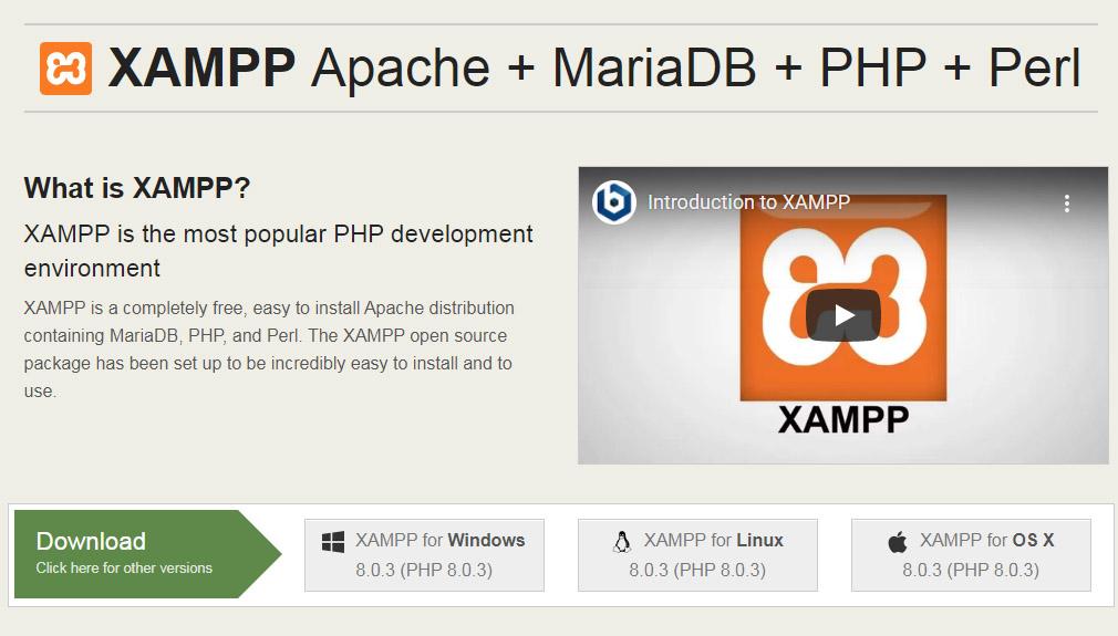 Apache Friends homepage