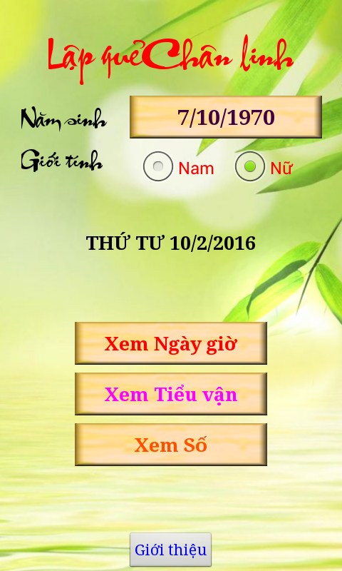 Screenshots of Chân Việt lịch - ngày giờ tốt for Android