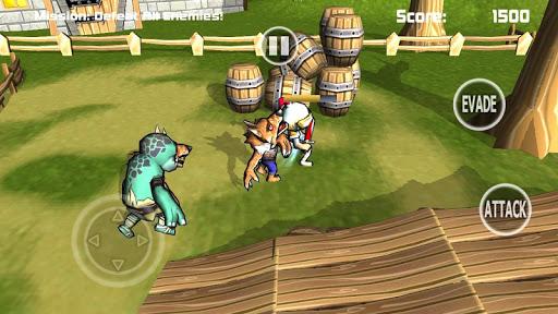中世纪骑士的攻击