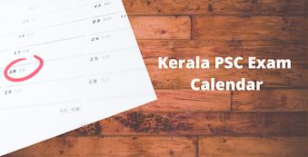 Kerala PSC Exam Calendar 2020