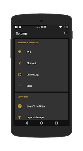 Dark Yellow - Layers Theme