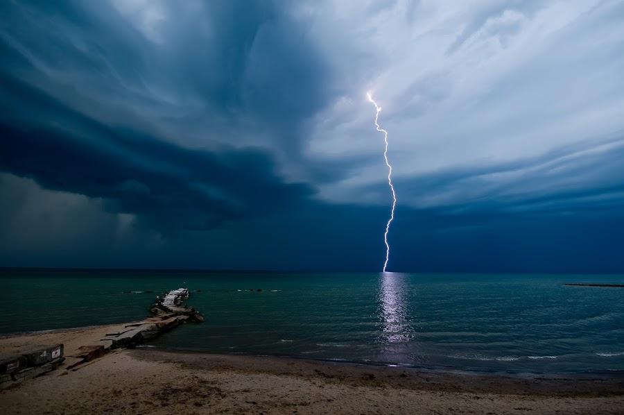 Power by Jim Larkin - Landscapes Weather ( lightning, great lakes, lake erie )