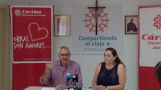 El delegado episcopal de Acción Creativa, Juan Antonio Plaza, y la técnico , Josefa Jurado.