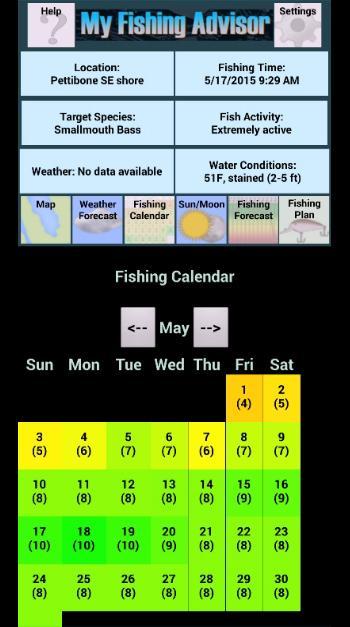 My Fishing Advisor Pro- screenshot
