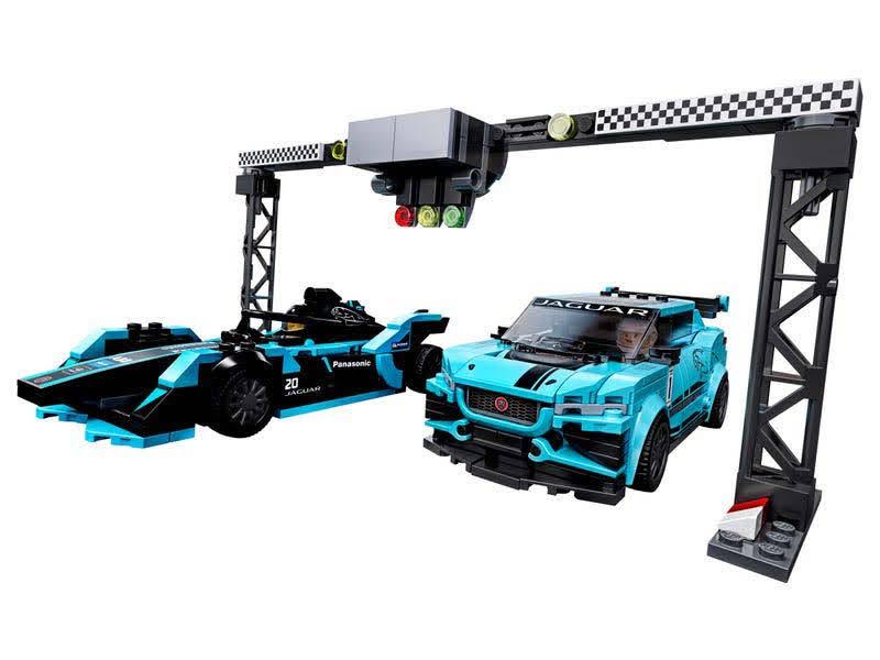 Contenido de Lego® 75897 1988 Formula E Panasonic Jaguar Racing GEN2 car & Jaguar I-PACE eTROPHY