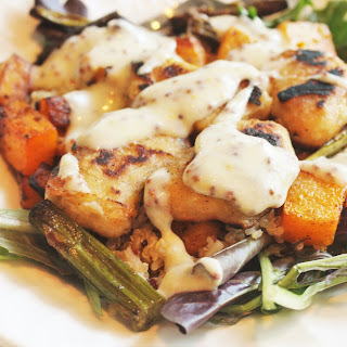Butternut Squash & Quinoa Salad with Honey Mustard Dressing