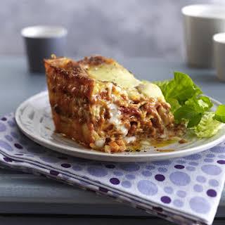 Beef Lasagne with Béchamel Sauce.