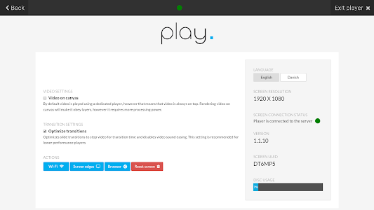 Play. — digital signage player screenshot 1