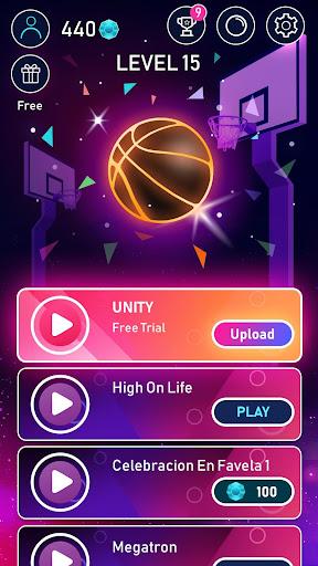 Dunk n Beat [Mod] Apk - Âm nhạc kết hợp bóng rổ