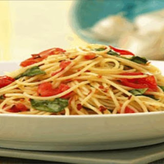 Basil and Cherry Tomato Angel Hair Pasta