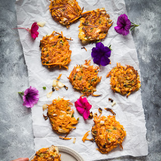 Easy Sweet Potato Scallion Fritters.