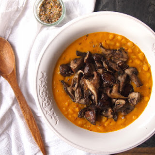 Cannellini Bean Pumpkin Risotto with Garlicky Mushrooms