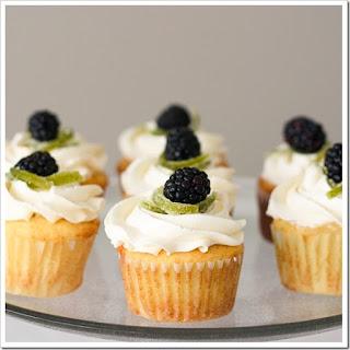 Blackberry Blackbird Cupcakes.