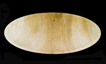 "Photo: Clif Poodry - one of two platters, 15"" and 17"" [sycamore]"