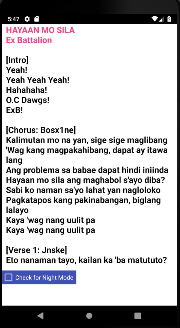 Скриншот Hayaan Mo Sila Lyrics