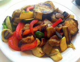 Photo: Grilled vegetables at Los Barcos, Las Negras