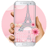 Pink Diamond Paris Love keyboard