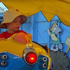 I want to be an Astronaut by Margaret Stevens - Babies & Children Children Candids ( child, fun park, boy,  )