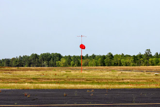 Photo: Wind right down the R/W means a cross wind at home