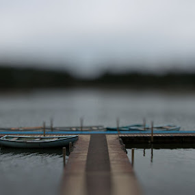 Lonely Jetty by Mark Denham - Landscapes Travel ( water, loch, jetty, boat )
