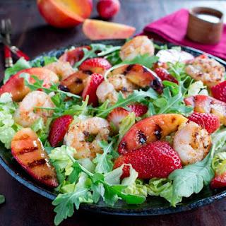 Grilled Shrimp Nectarine Summer Salad.