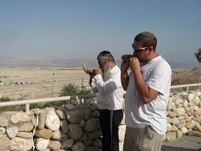 Photo: Sounding the Shofar opposite Jericho…תוקעים בשופרות מול יריחו