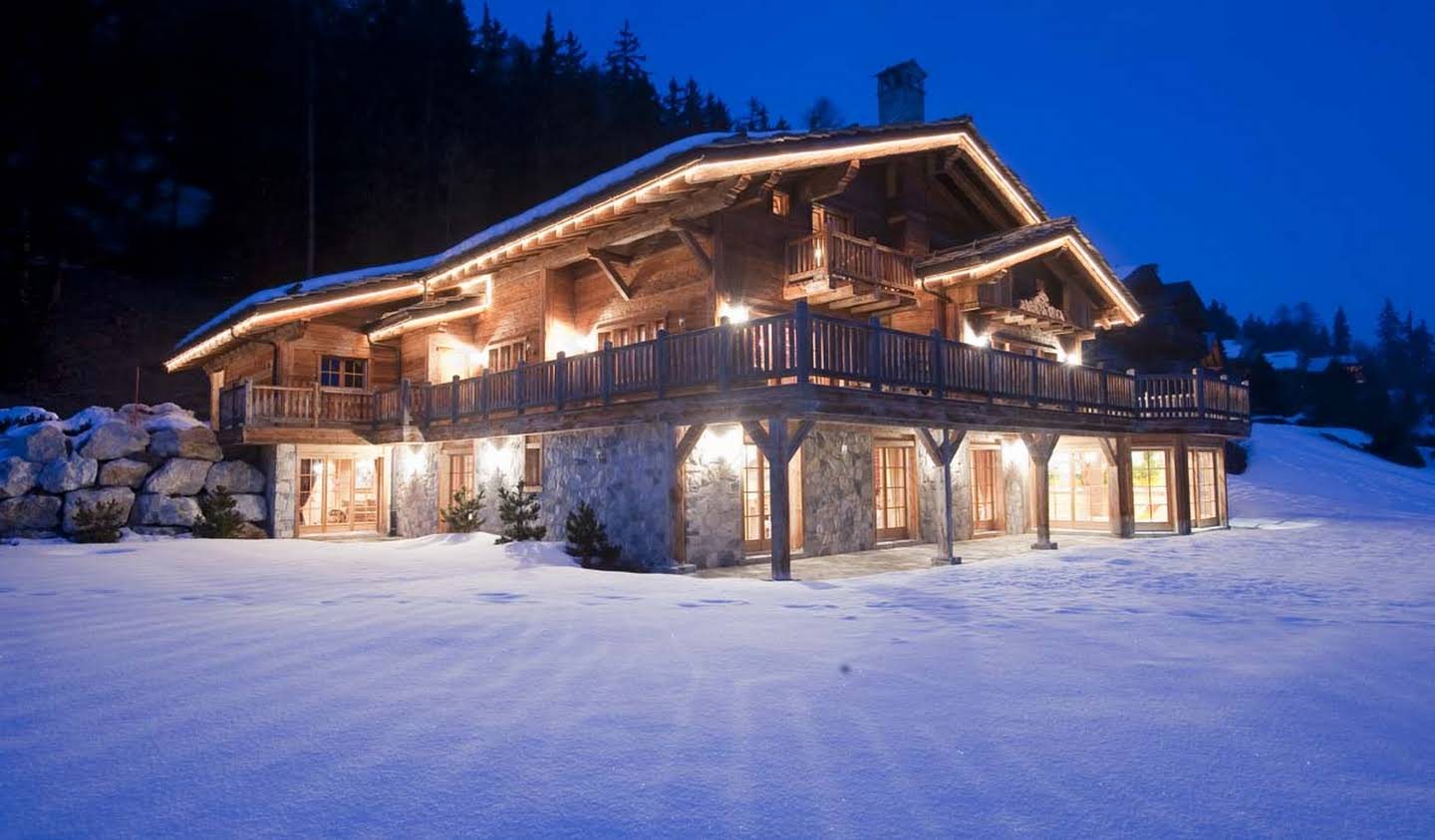 Chalet with panoramic view and terrace Crans-Montana