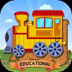 适于儿童的火车拼图 – 教育版 icon