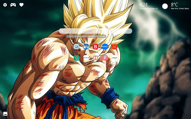 Dragon Ball Z Wallpaper HD New Tab Themes