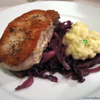 Pork Chops & Braised Cabbage (with apple sauce dumplings)