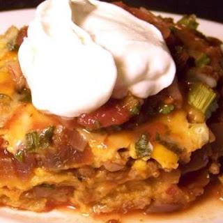 Mexi-Casserole With Chipotle Salsa.