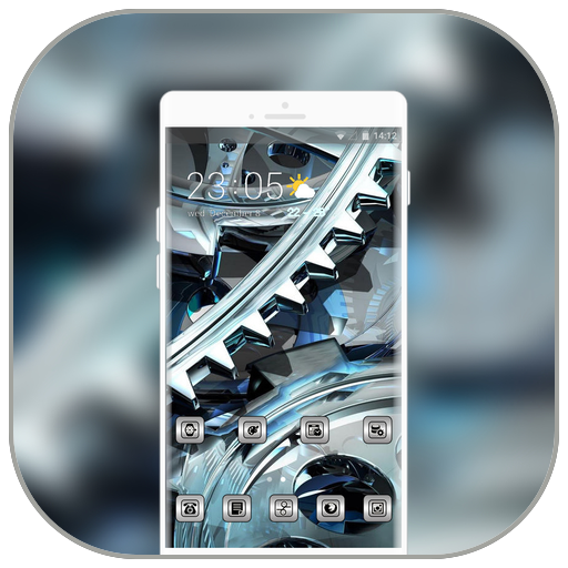 Theme for tech art frame crystal machine wallpaper icon