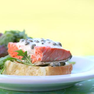 Recipe for Cold Salmon Sandwich with Lemon-Caper Mayo