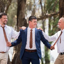 Fun with the boys by Junita Fourie-Stroh - Wedding Groom ( groomsmen, wedding photography, wedding day, wedding, south africa, destination wedding photographers, groom )