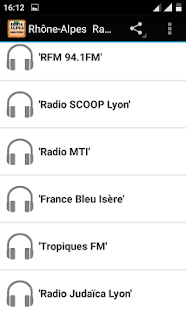Rhone-Alpes Radio Stations - náhled