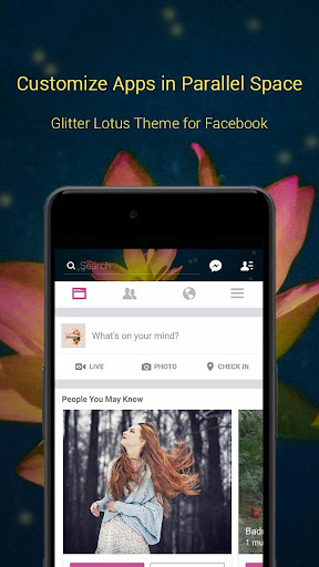 玩免費個人化APP|下載Glitter Lotus Theme for FB app不用錢|硬是要APP